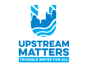 Upstream Matters Logo - Tagline: Triangle Water for All